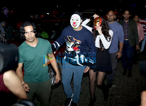 Photos Varun Dhawan and Nora Fatehi snapped at Mount Mary Church in Bandra1 (2)