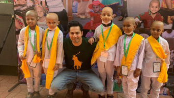 Varun Dhawan dances on 'First Class' song with cancer affected children