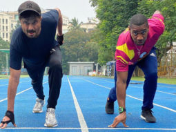 Whatta player! Anil Kapoor meets the Olympian Yohan Blake; learns a few workout techniques from the silver medallist
