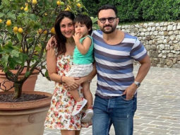 Saif Ali Khan, Kareena Kapoor Khan and little Taimur pose for a happy family frame in Pataudi palace