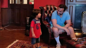 Little Taimur Ali Khan turns chatterbox with father Saif Ali Khan, see photo