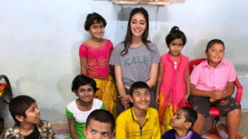 Amid Khaali Peeli shooting, Ananya Panday takes time out to spend time with children in Wai