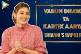 """Kartik Aaryan, Sara Ali Khan & Varun- I'd like them on…"""" Dhvani Rapid Fire Na Ja Tu"""