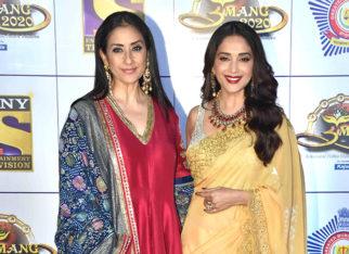 Lajja Reunion Madhuri Dixit and Manisha Koirala reunite on the red carpet of Umang 2020
