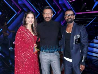 Photos: Ajay Devgn and Kajol promote their film Tanhaji – The Unsung Warrior on the sets of Dance+5