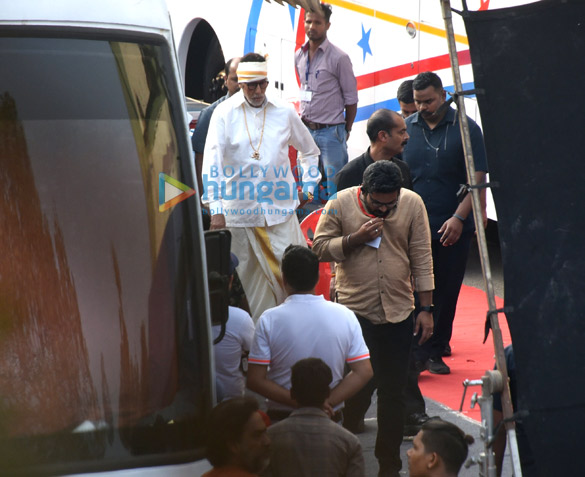Photos: Amitabh Bachchan spotted at Filmcity in Goregaon