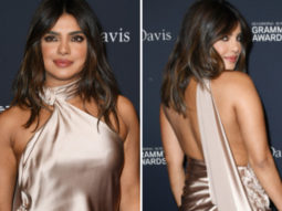 Priyanka Chopra goes glamorous in champagne colour Nicolas Jebran backless gown for Pre-Grammys 2020 party
