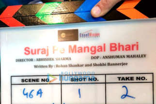 On The Sets from the movie Suraj Pe Mangal Bhari