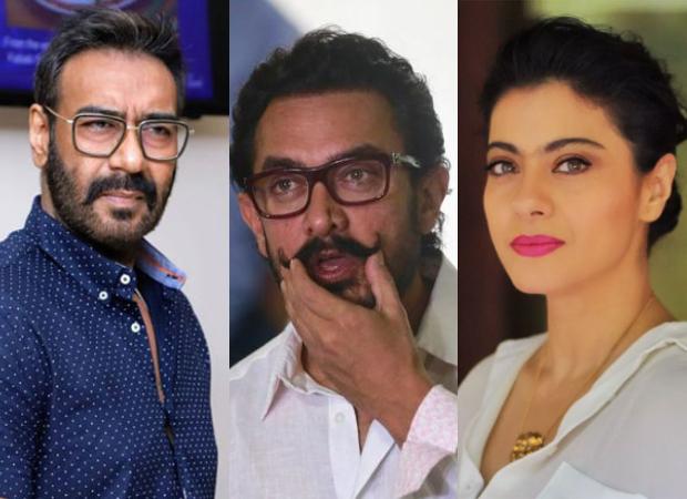 Ishq actors Ajay Devgn, Aamir Khan and Kajol reunite at the screening of Tanhaji:The Unsung Warrior