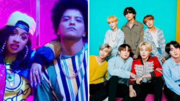 Bruno Mars and Cardi B react to BTS singing 'Finesse' during Carpool Karaoke on The Late Late Show with James Corden