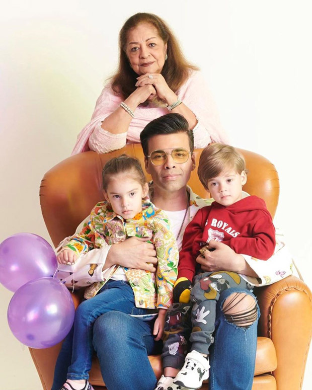 Karan Johar shares family portrait featuring his mother and kids, thanks the universe on his twins Yash – Roohi's 3rd birthday