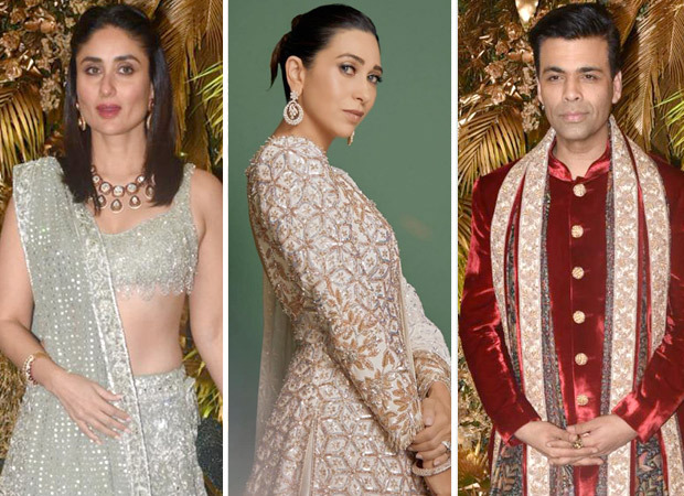Kareena Kapoor Khan, Karisma Kapoor and Karan Johar enthrall with their 'Bole Chudiyan' performance at Armaan Jain - Anissa Malhotra's wedding reception