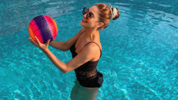 Krystle D'souza soars temperatures in a black monokini as she enjoys in the pool