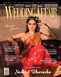 Nushrat Bharucha on the cover of Wedding Affair