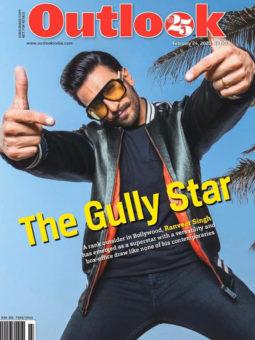 Ranveer Singh on the cover of Outlook, Feb 2020