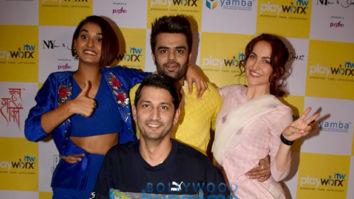 Photos: Shakti Mohan, Elli AvrRam, Maniesh Paul and others snapped during 'Break A Leg' shoot