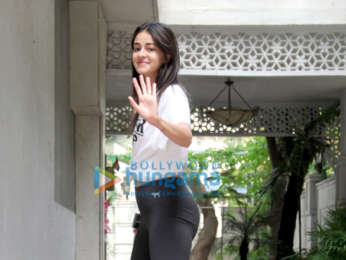Photos: Ananya Panday spotted at the gym in Bandra