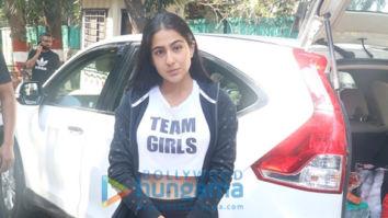 Photos: Sara Ali Khan spotted during an ad shoot in Pali Hill, Bandra