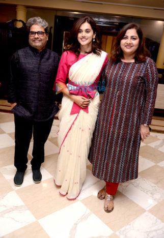 Photos: Taapsee Pannu, Vishal Bhardwaj and Anubhav Sinha snapped during Thappad press conference
