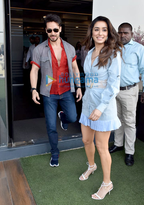 Photos Tiger Shroff and Shraddha Kapoor snapped promoting their film Baaghi 3 (9)
