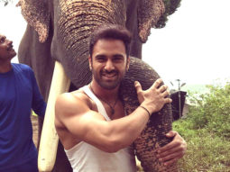 Pulkit Samrat bonds with his co-star, Unni the elephant, on the sets of Haathi Mere Saathi