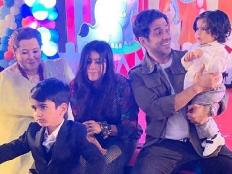 Tusshar Kapoor says Jeetendra and Shobhaa are overjoyed with Laksshya and Ravie in the house
