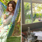 Akshay Kumar and Nitara become the cutest distractions while Twinkle Khanna tries to work on her book
