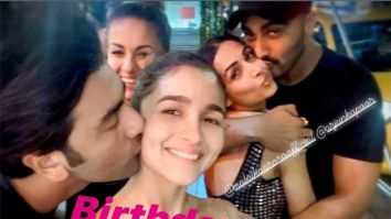 Alia Bhatt gets a sweet kiss from Ranbir Kapoor, Malaika Arora gets one from Arjun Kapoor in this throwback picture