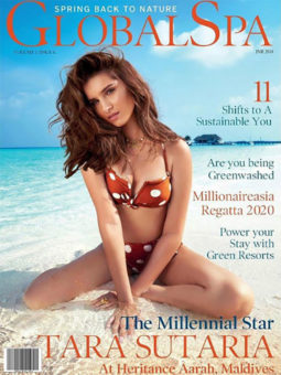 Tara Sutaria on the cover of Global Spa
