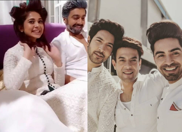 Jennifer Winget, Ashish Chowdhry, Shivin Narang and the team of Beyhadh 2 celebrate Holi on the sets in style!