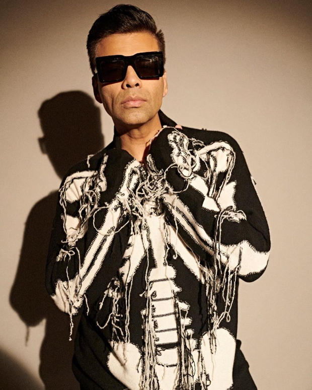 Karan Johar sports skeleton sweater from Loewe that costs over Rs. 96,000