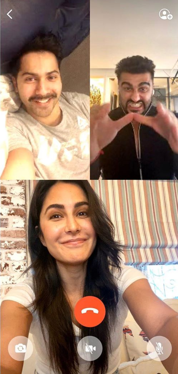 Katrina Kaif indulges in video call session with Varun Dhawan and Arjun Kapoor amid self-quarantine