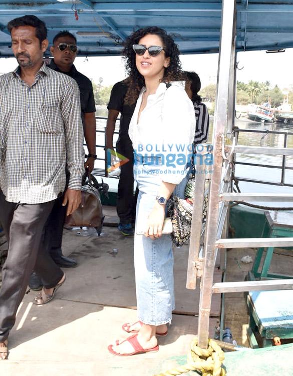 Photos Sanya Malhotra snapped at Versova jetty (1)