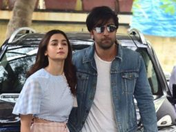 Amid nationwide lockdown, Alia Bhatt and Ranbir Kapoor spotted taking their dog for a walk