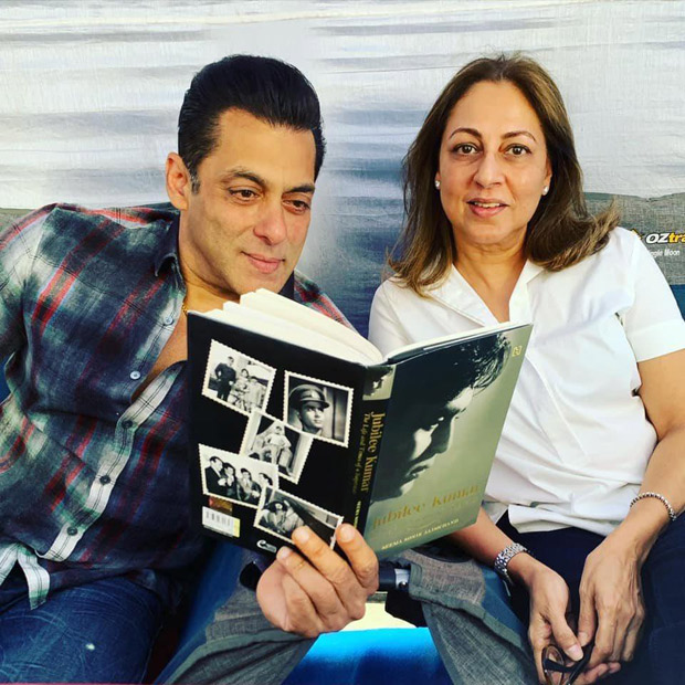 Salman Khan reads the biography of late Rajendra Kumar on the sets of Radhe: Your Most Wanted Bhai, see photos
