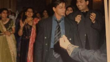 Throwback: Shah Rukh Khan shakes a leg on Chaiyya Chaiyya while background dancer Karan Johar tries to catch up