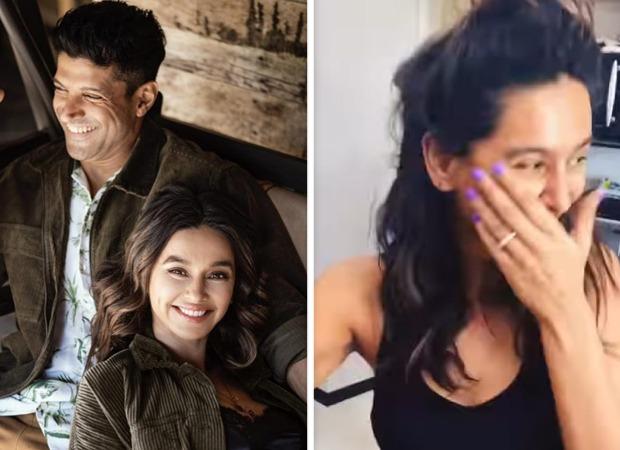Cute! Farhan Akhtar films girlfriend Shibani Dandekar cook as she ruins mushroom pasta : Bollywood News - Bollywood Hungama 1