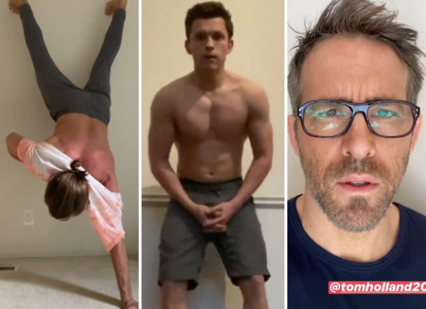 Jake Gyllenhaal attempts Tom Holland's shirtless handstand challenge, Ryan Reynolds has hilarious response : Bollywood News thumbnail