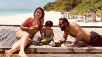 Kareena Kapoor Khan shares a throwback picture with Saif Ali Khan and Taimur Ali Khan as the trio chills on a beach