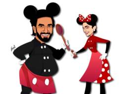 Ranveer Singh and Deepika Padukone channel their inner Mickey and Minnie mouse in this illustration