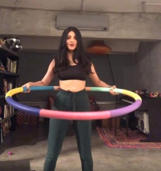 Shruti Haasan is here to teach you how to hula hoop, watch video