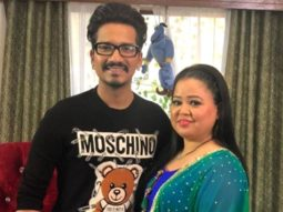 Bharti Singh and Haarsh Limbachiyaa distribute food among security guards on Ashtami