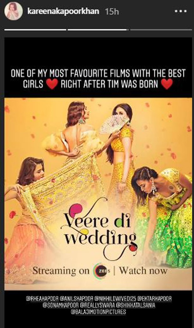 Kareena Kapoor Khan revisits Veere Di Wedding, reveals it is one of her favourite because of Taimur