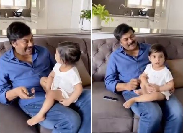 Chiranjeevi spends time with granddaughter listening to her favourite song; watch video