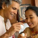 On the occasion of Rongali Bihu, Milind Soman indulges in egg fight with wife