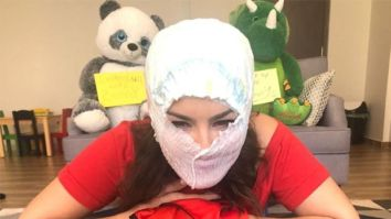 When Sunny Leone turned a diaper into an emergency face mask!