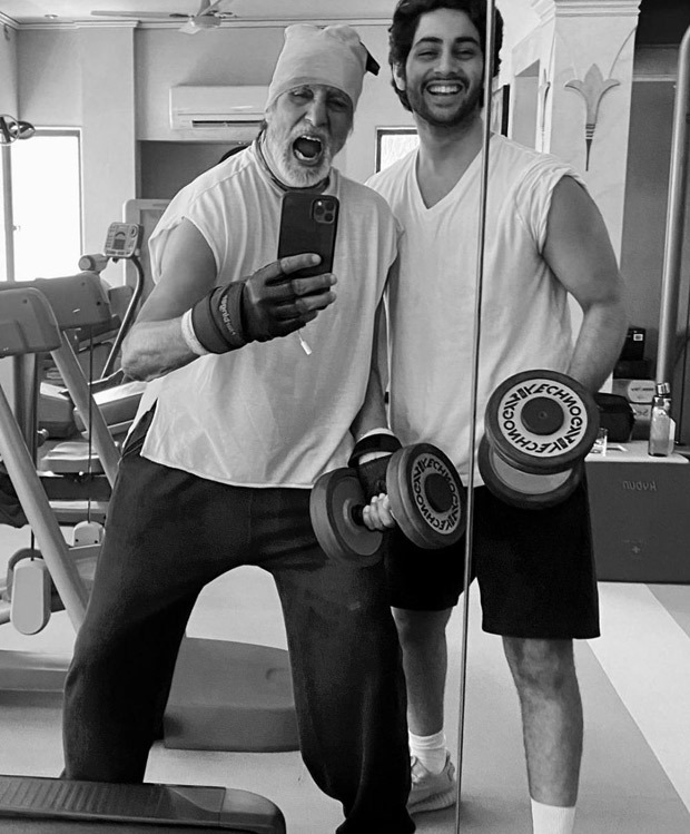 A Glimpse Of Amitabh Bachchan And Grandson Agastya Nanda's Thursday Workout Mood