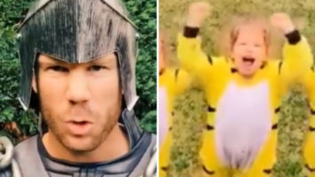 Australian cricketer David Warner recreates Prabhas' famous Baahubali dialogue with his daughter