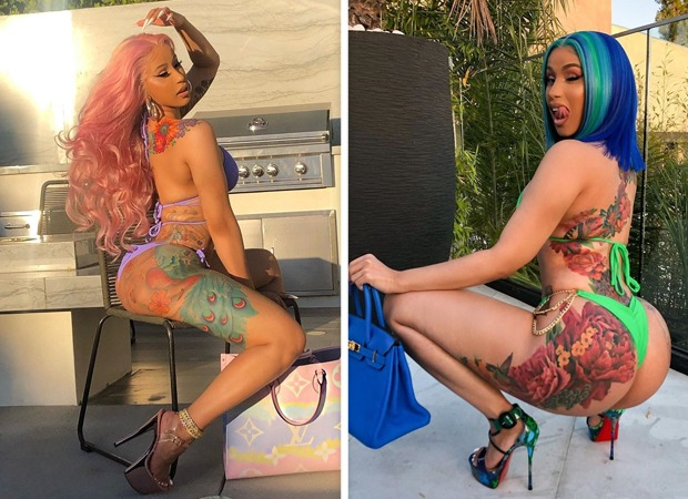 Cardi B flaunts her enviable figure in sexy bikini photos, reveals new back tattoo that took 60 hours to complete!