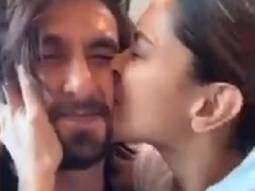Deepika Padukone gives a sweet kiss on Ranveer Singh, says 'world's most squishable face'